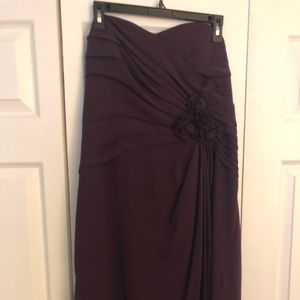 Alfred Angelo plum color bridesmaid dress